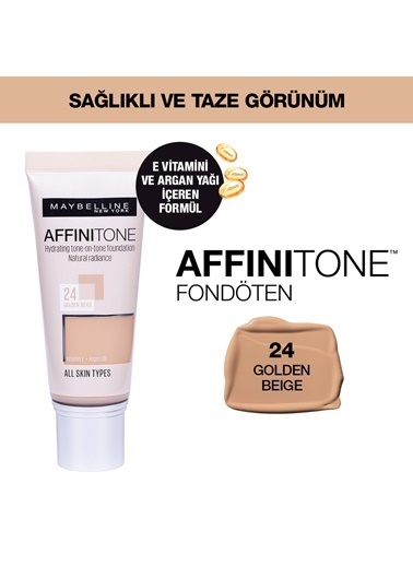 Maybelline Maybelline New York Affinitone  Fondöten - 24 Golden Beige Ten